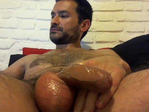Gay boy masturbation cum shot
