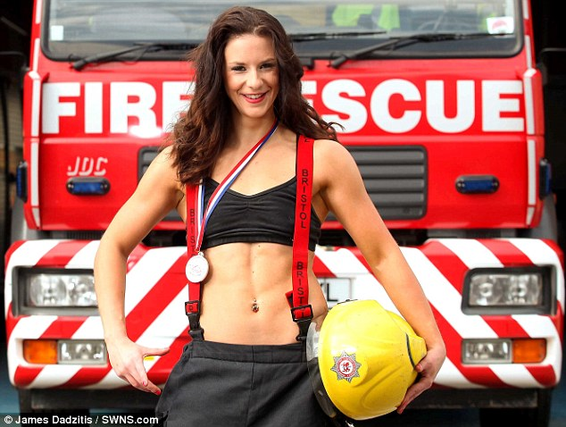 Nude women female firefighter