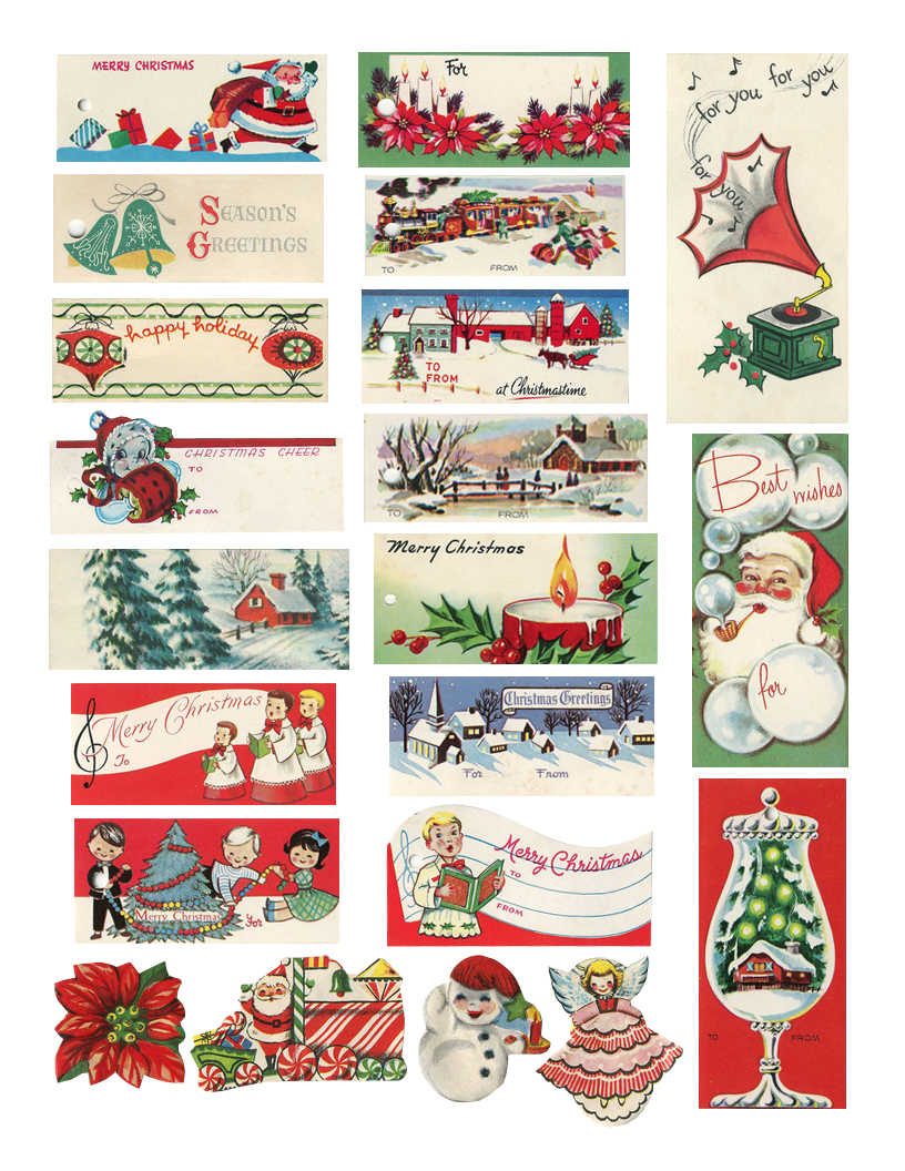 print Vintage christmas