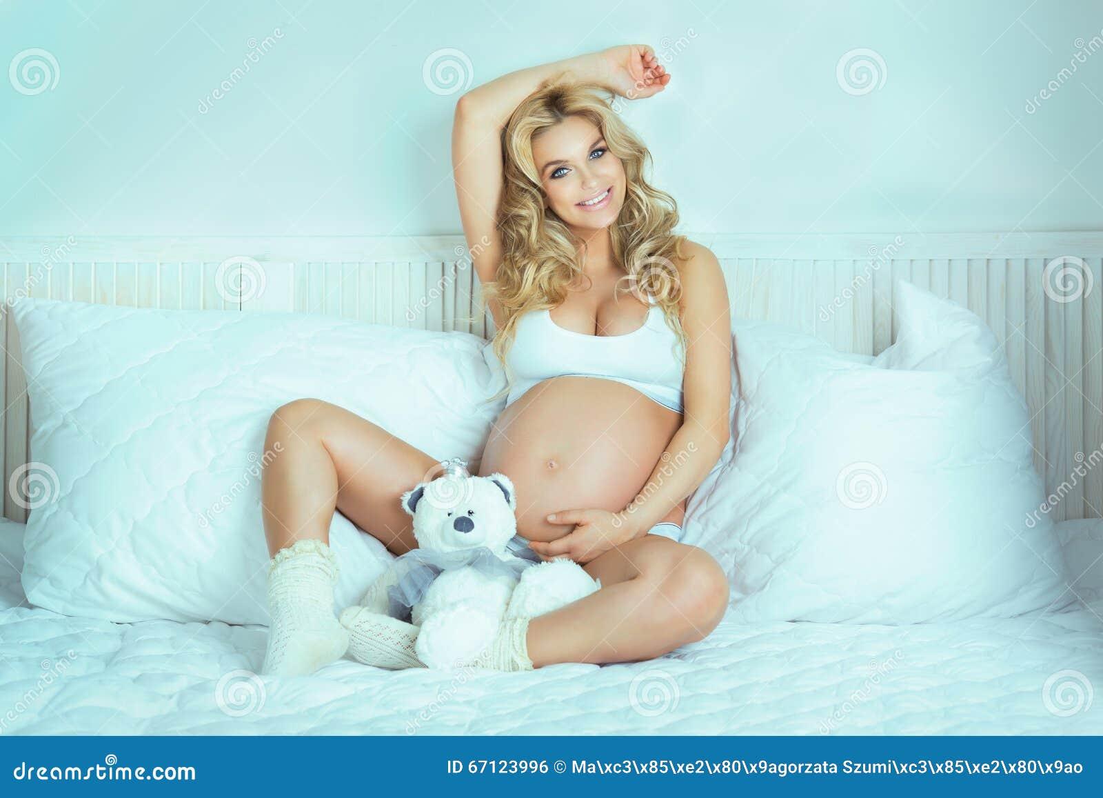 Sexy beautiful pregnant woman