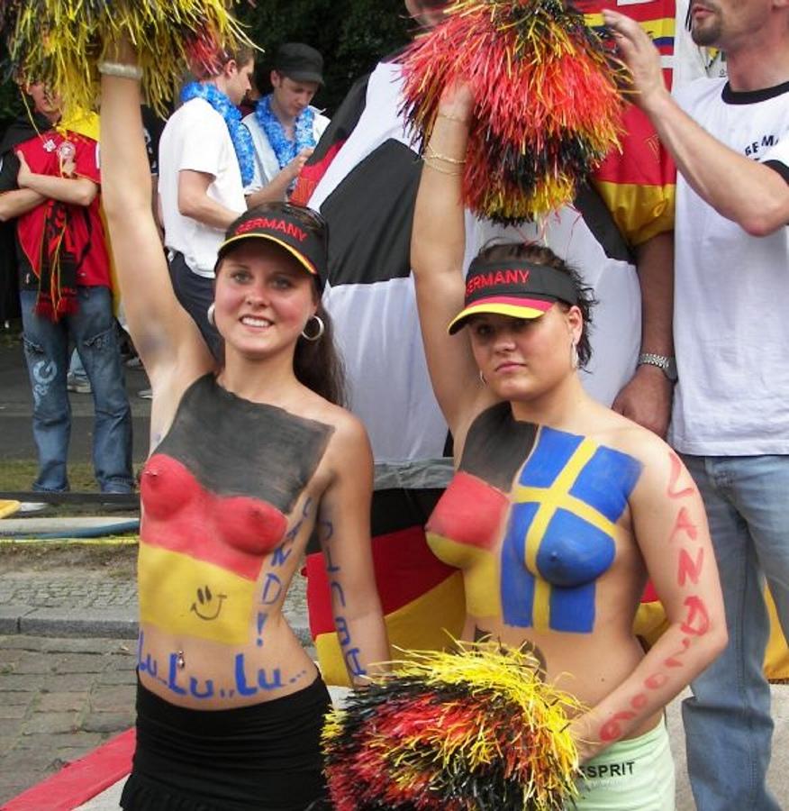Nude football girl fans