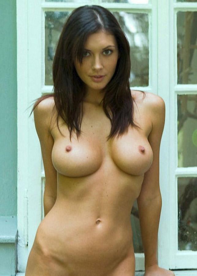 Nude brunette nice tits
