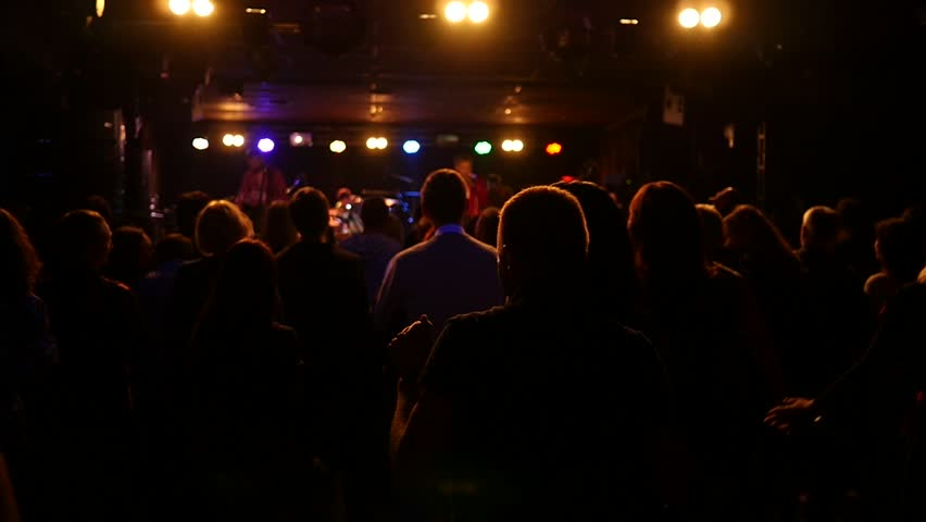 Concert crowd public flashing