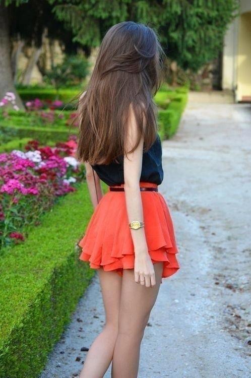 Beautiful girls short skirts