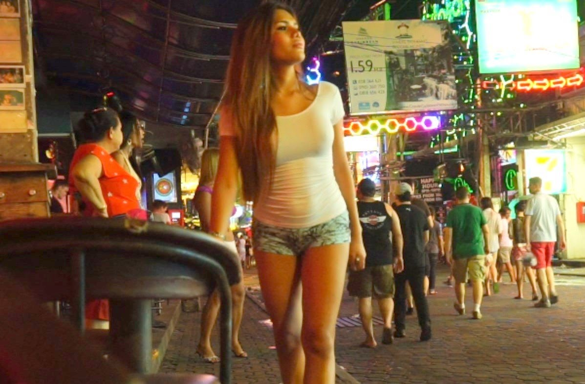 Real thai street ladyboy