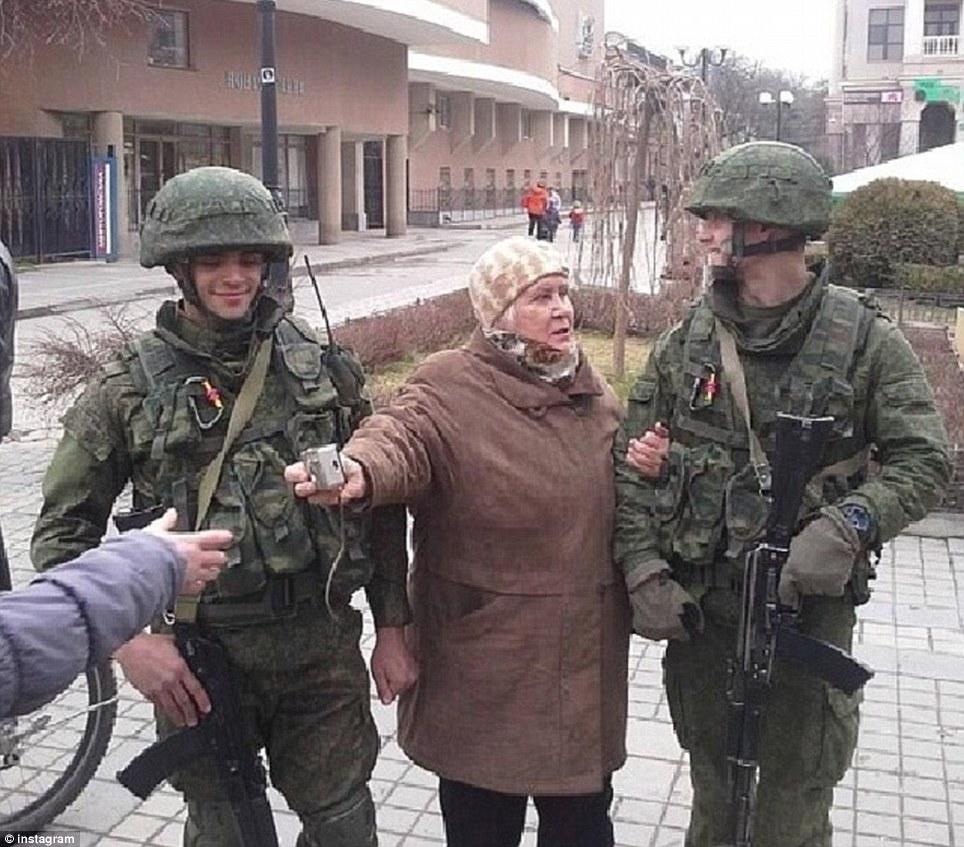 Crimea ukraine russian woman