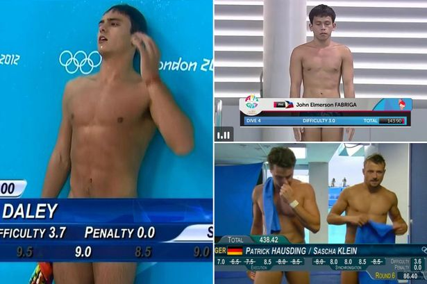 nude athletes Diving male