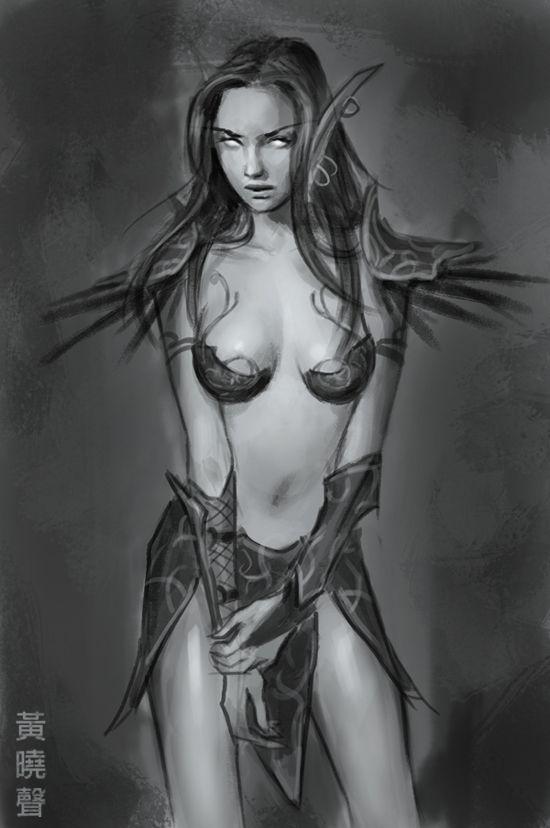 drawings Nude female elf