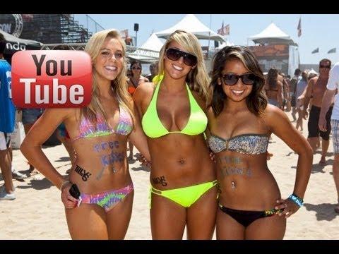 Us open surfing bikini girls