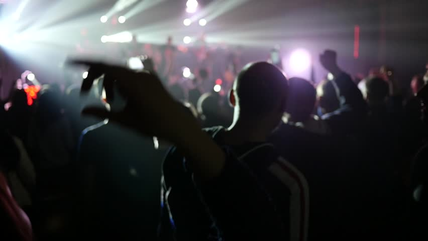 public flashing crowd Concert