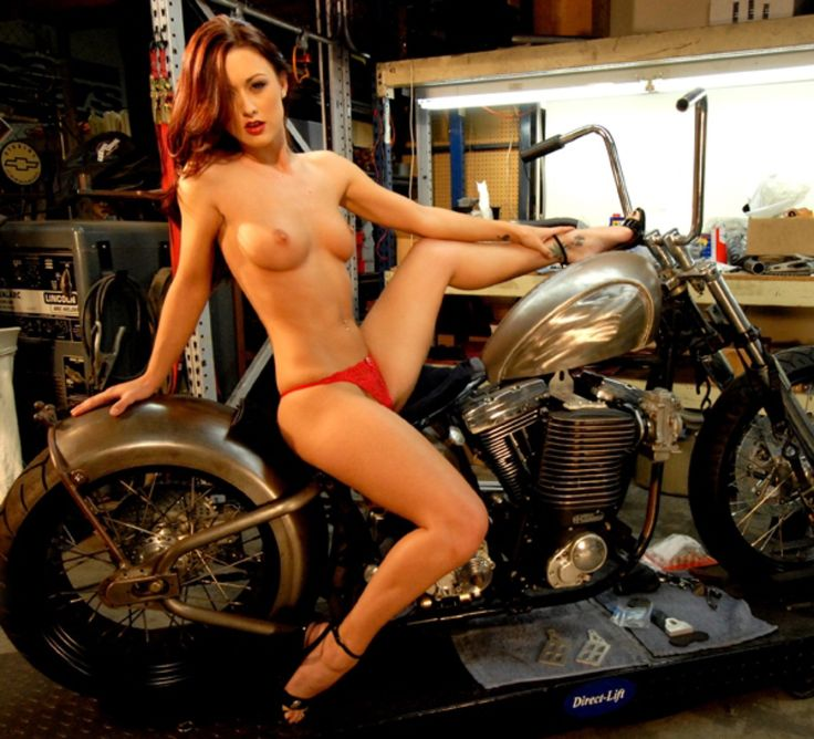 Naked biker chicks nude
