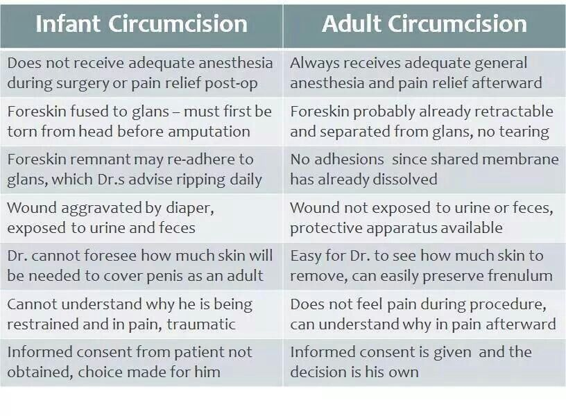 circumcision My adult