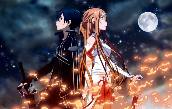art kirito asuna online Sword and