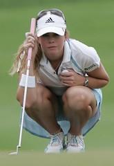 Women golfers upskirt