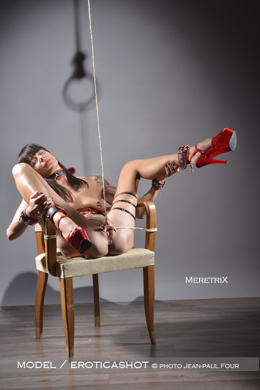 Skinny girls anal bondage