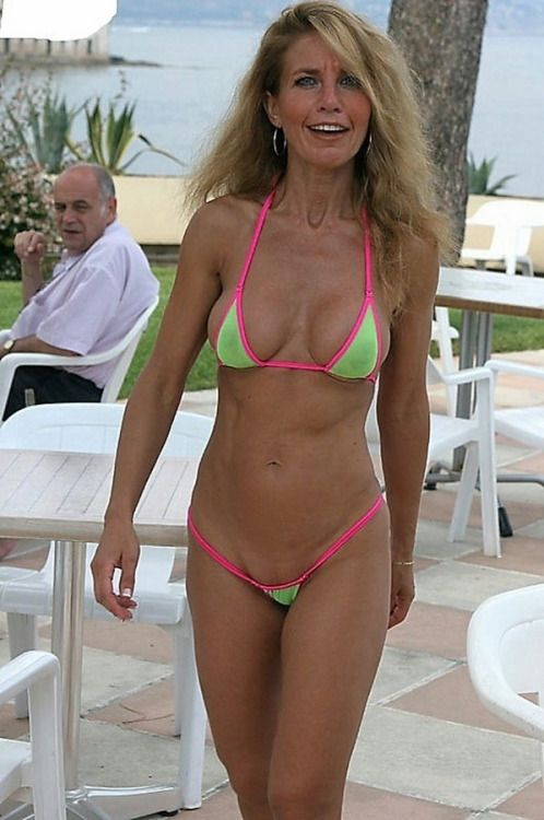 sexy Mature bikini wife beach
