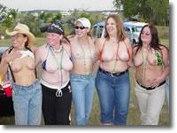 Flashing tits at biker rally