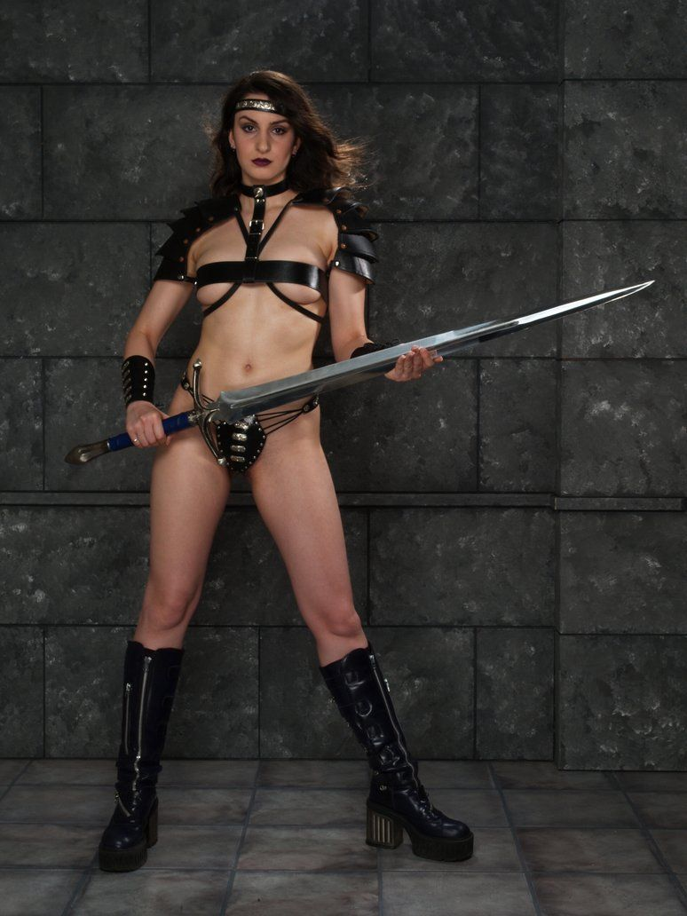Female nude warrior women