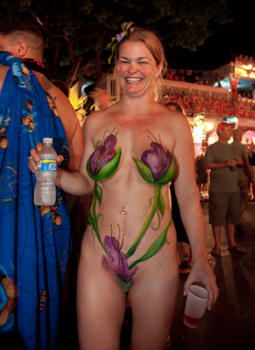 Mardi gras body paint nude
