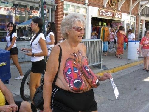 Mardi gras body paint nude