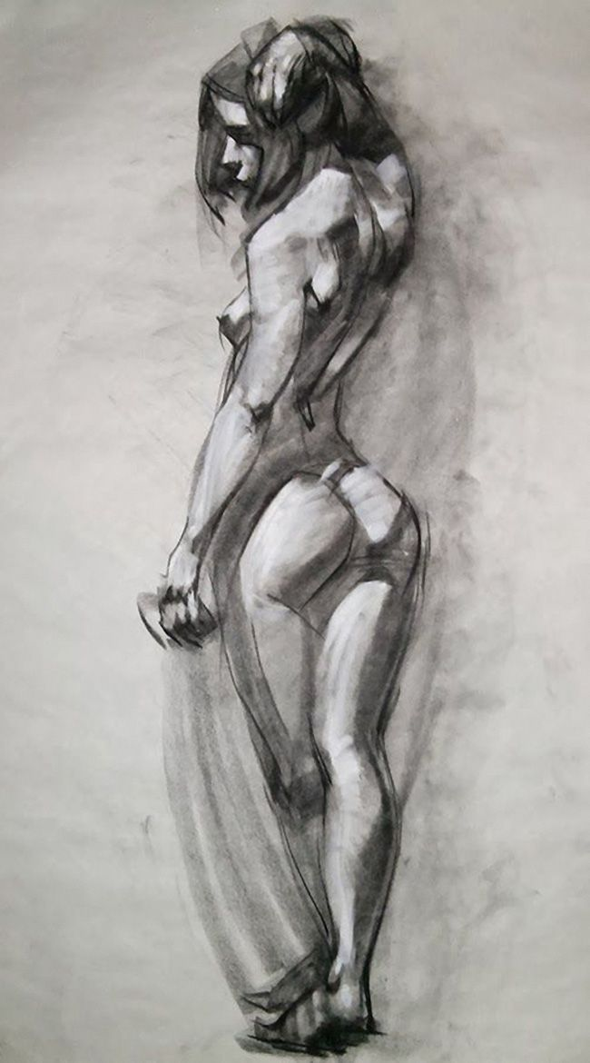 Figure drawing woman nude