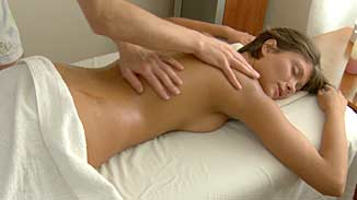 Nude girl oil massage fuck