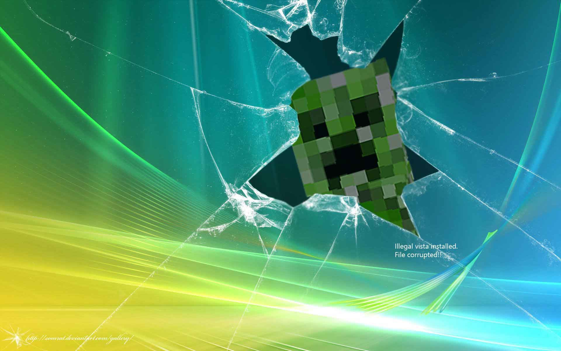 Awesome minecraft desktop background