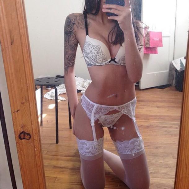 Girls in panties and garter belts stockings