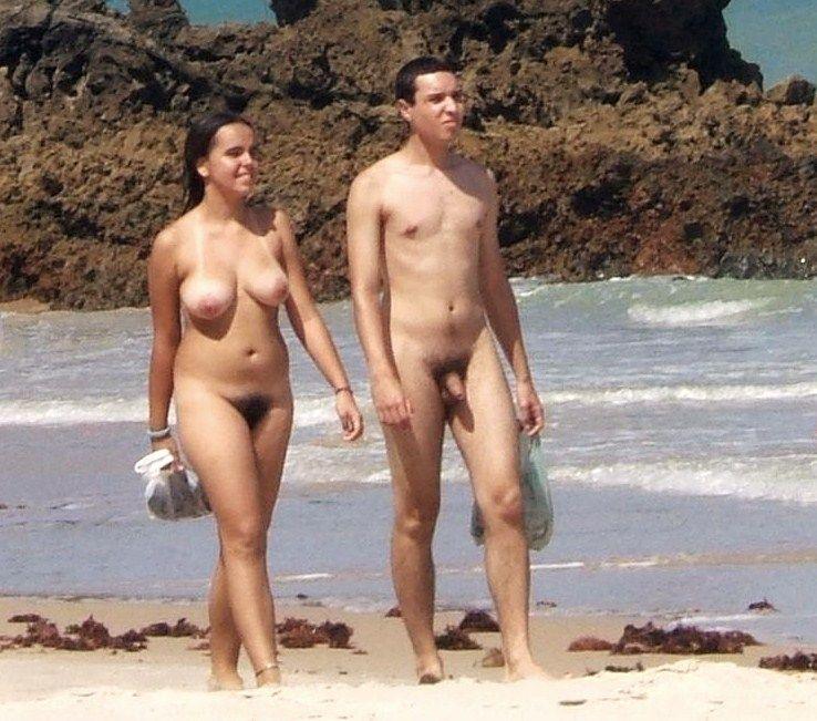 Girl nude beach hairy pussy