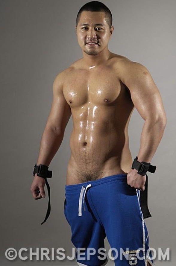 Bodybuilder asian muscle nude