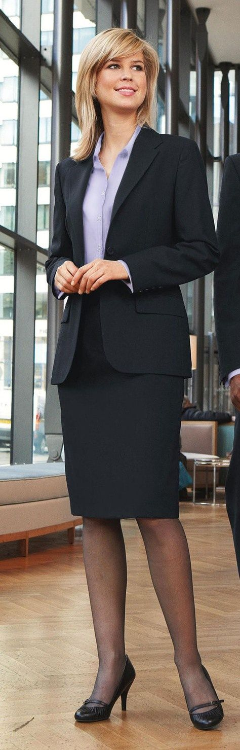 Business women pantyhose and high heels