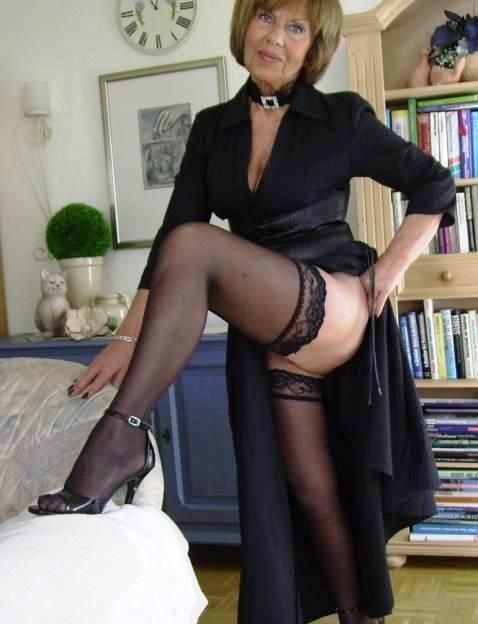 Black mature women stockings