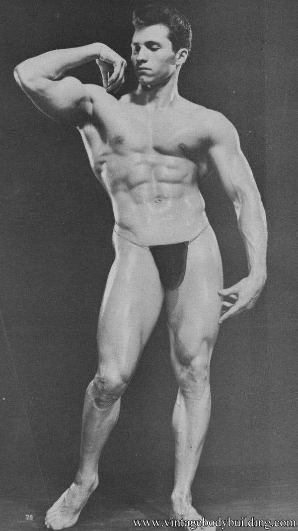 Vintage male nude muscle men