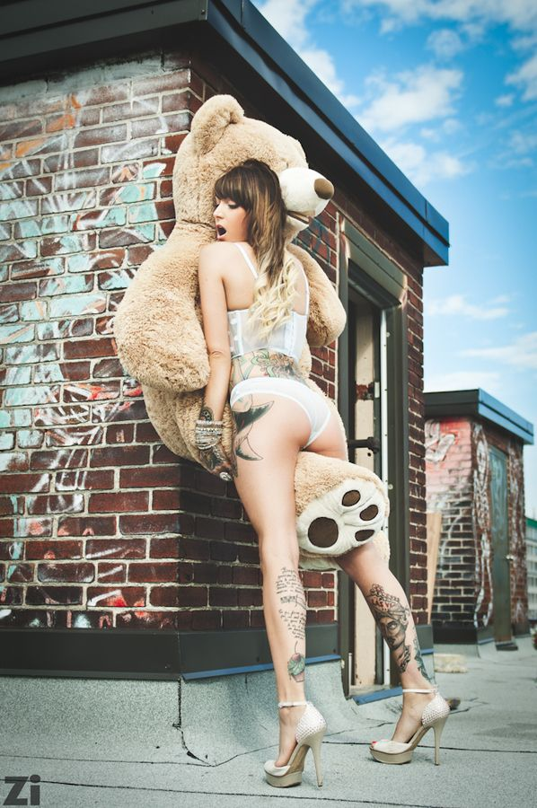 Nude girl humping teddy bear