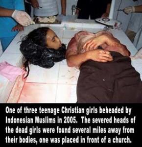 Christian girls beheaded indonesia
