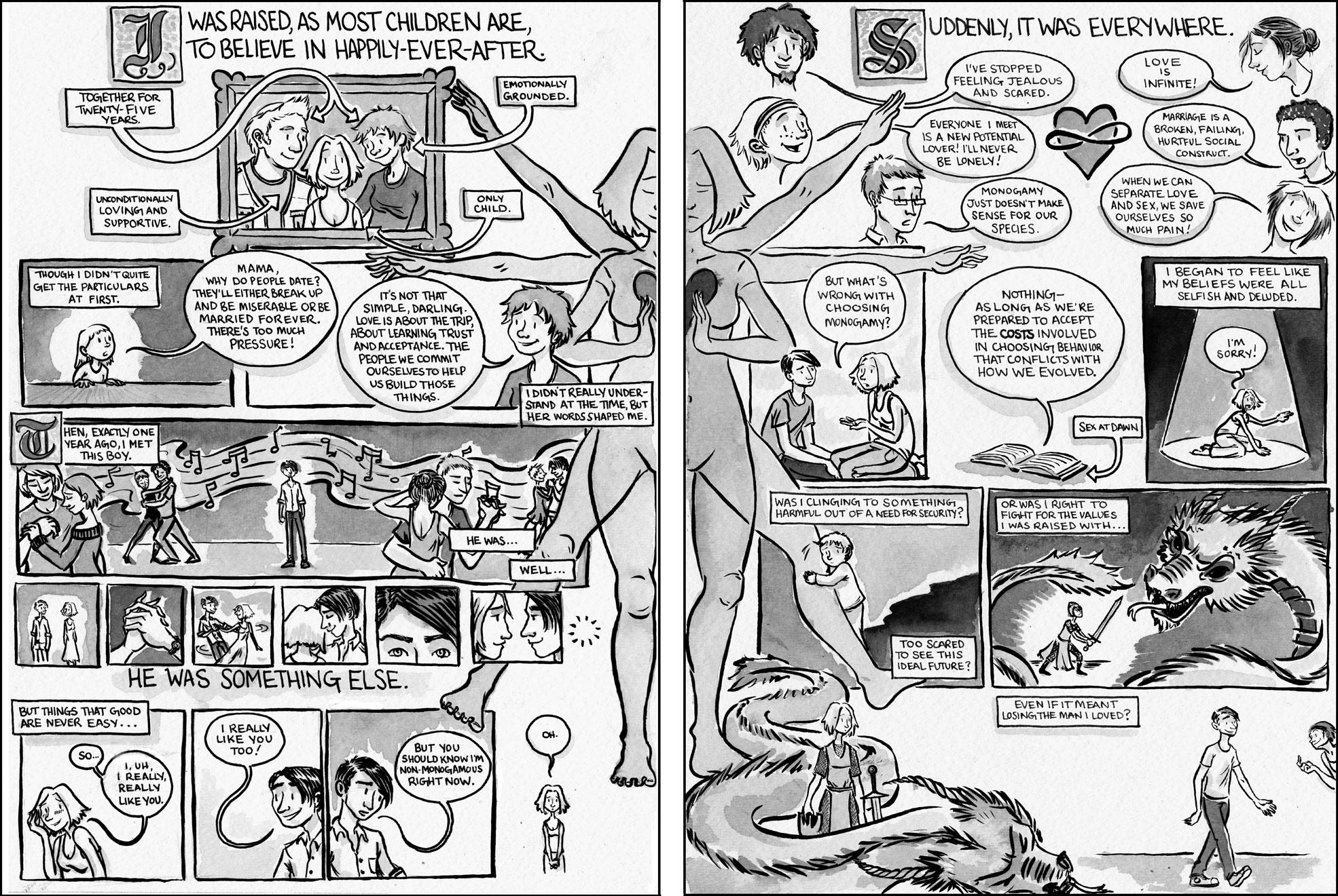 Lesbian nude cartoon comic strips