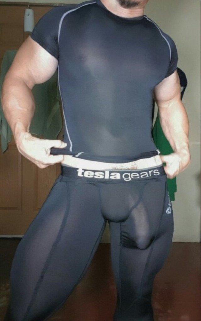 Big cock bulge spandex lycra