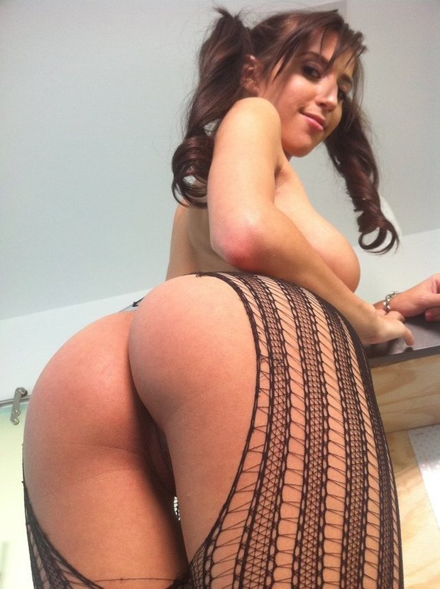 Brunette big tits and ass