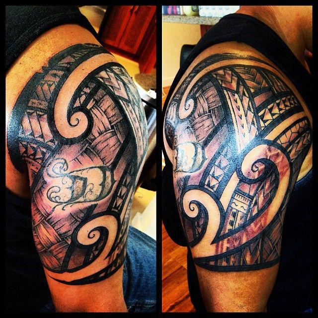 Polynesian shoulder tattoo designs