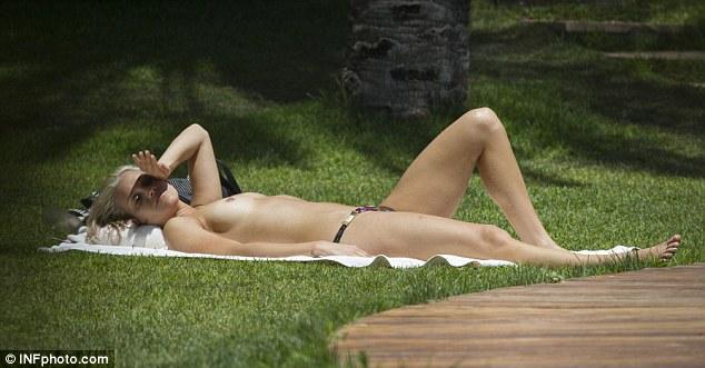 Ashley roberts sunbathing