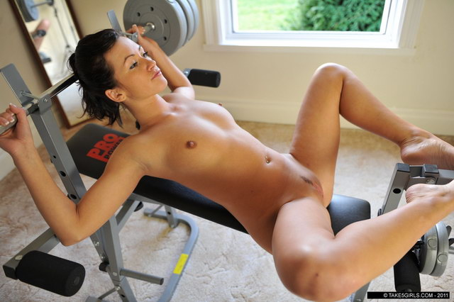 women working out Naked
