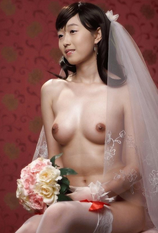 Nude asian bride lingerie