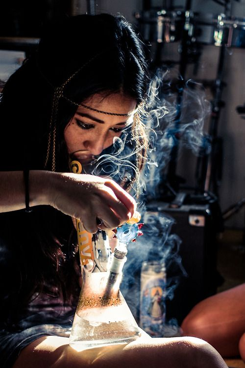 girls smoking weed College
