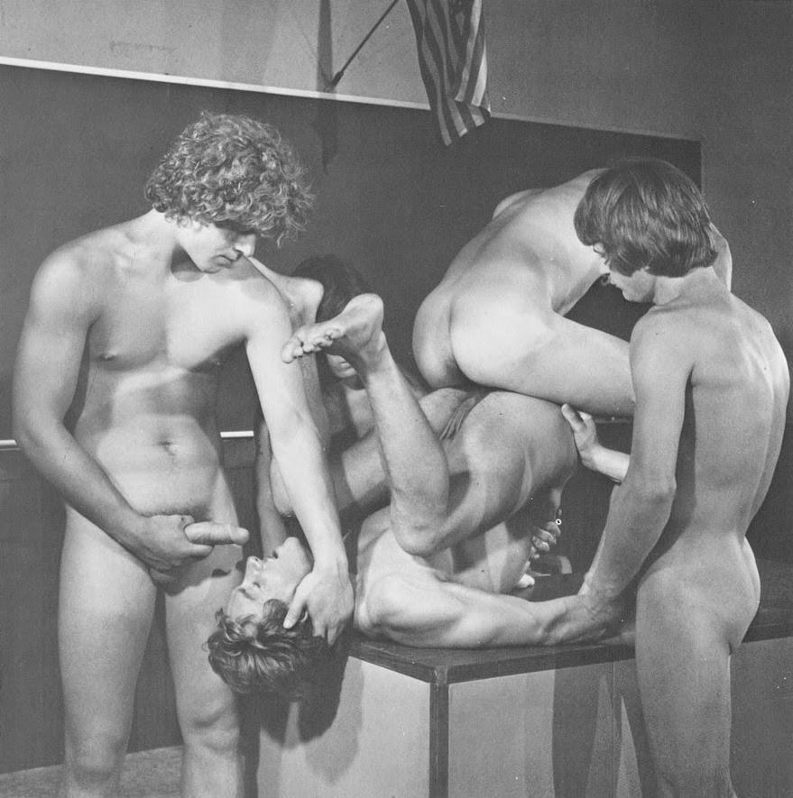 gay group Vintage sex interracial