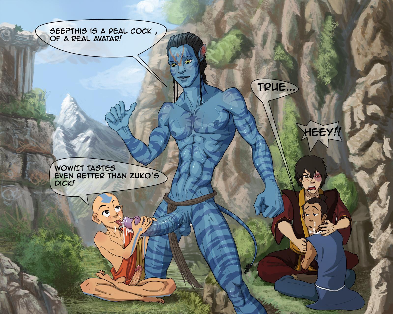 Blue avatar gay porn