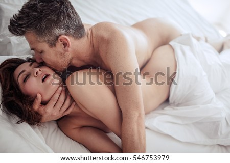 Sex romantic couple kissing