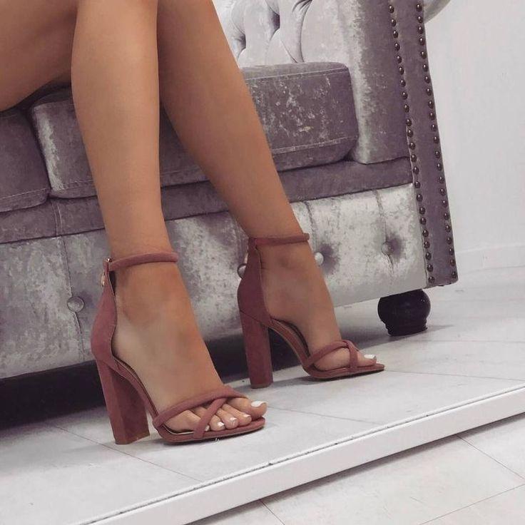 Skinny legs high heels nude