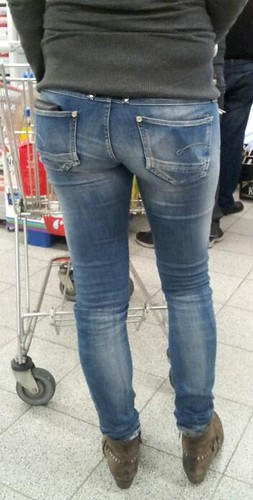Tight ass jeans thong
