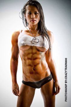 Muscle nude fitness women