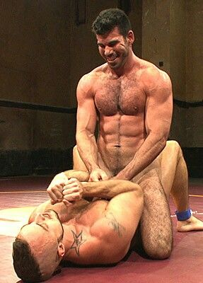 Gay nude wrestling fighting man